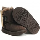 Botte UGG Australia Enfants Bailey Button 5991 Chocolat Soldes France