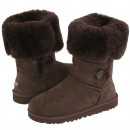 Botte UGG Australia Enfants Bailey Button Triplet 1962 Chocolat Paris