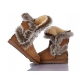 Botte UGG Australia Fox Fur 1002 Chataigne Fashion