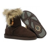 Botte UGG Australia Fox Fur 5685 Chocolat Site Officiel