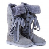 Botte UGG Australia Roxy Grand Gris 5818 Soldes Paris