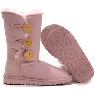 Botte UGG  Enfants Bailey Button Triplet 1962 Rose Nouveau