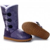 Bottes Femme Pas Cher UGG Bailey Button Triplet Paisley 1873 Violet France Magasin