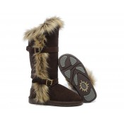 Bottes UGG Pas Chere Fox Fur 1984 Chocolat Catalogue
