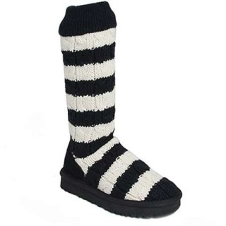 Bottes UGG Pas Chere Stripe Cable Knit 5822 Crème Paris