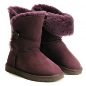 UGG Bottes Bailey Button 5803 Violet Code Promo