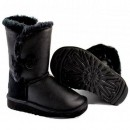 UGG Bottes Bailey Button Krinkle 1872 Noir Catalogue