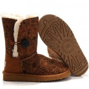 UGG Bottes Bailey Button Logo 5803 Chataigne Original