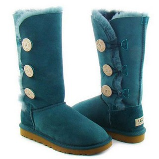 UGG Bottes Bailey Button Triplet 1873 Bleu Fashion