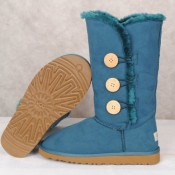 UGG Bottes Bailey Button Triplet 1873 Bleu Réduction