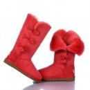 UGG Bottes Bailey Button Triplet 1873 Rouge Soldes Paris