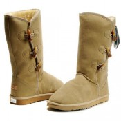 UGG Bottes Bailey Button Triplet 5885 Sable Soldes Paris