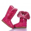 UGG Bottes Bailey Button Triplet Metallic 1873-Rouge En Solde