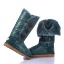UGG Bottes Bailey Button Triplet Paisley Vert 1873 Boutique Paris