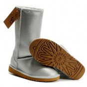 UGG Classic Tall Bottes Metallic Argent 5812 Vente Privee