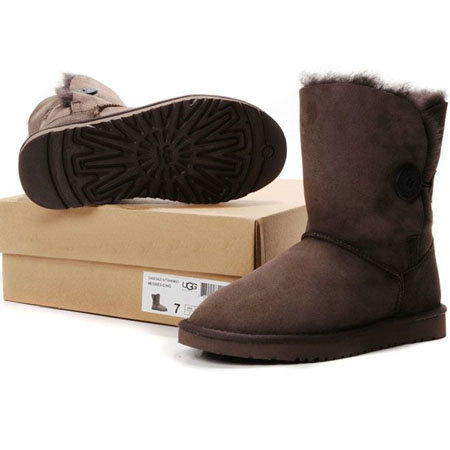 UGG Bottes Bailey Button 5803 Chocolat