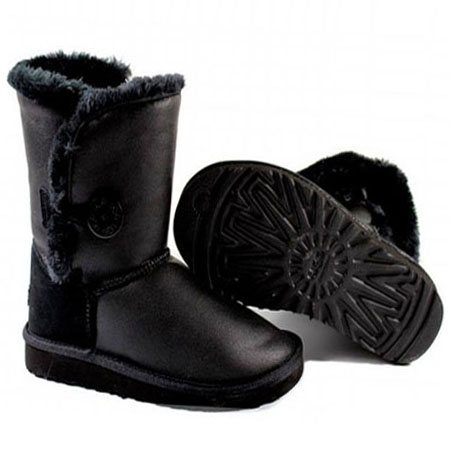 UGG Bottes Bailey Button Krinkle 1872 Noir