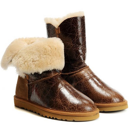 UGG Bottes Bailey Button Krinkle modèle 1872 Chataigne