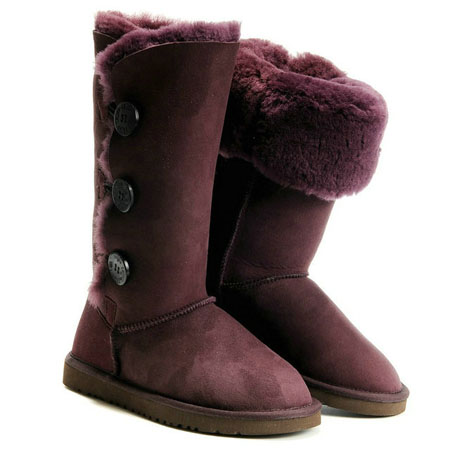 UGG Bottes Bailey Button Triplet 1873 Claret