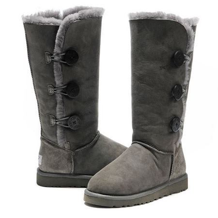 UGG Bottes Bailey Button Triplet 1873 Gris