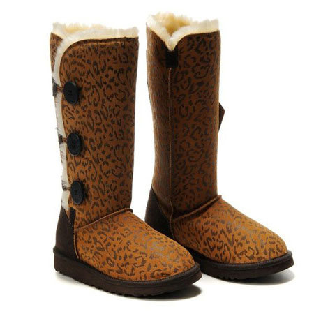 UGG Bottes Bailey Button Triplet 1873 Leopard