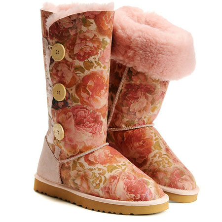 UGG Bottes Bailey Button Triplet 1873 Pivoine