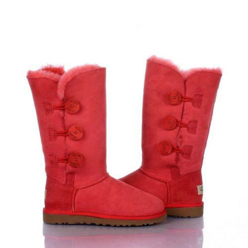 UGG Bottes Bailey Button Triplet 1873 Rouge