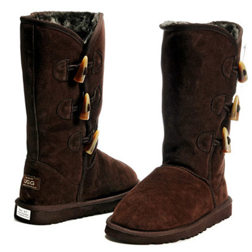UGG Bottes Bailey Button Triplet 5885 Chocolat