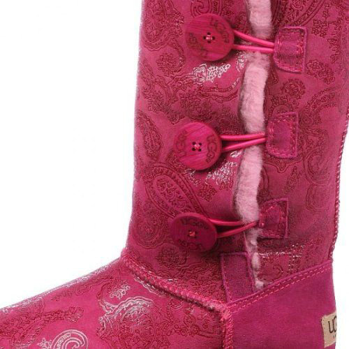 UGG Bottes Bailey Button Triplet Metallic 1873-Rouge