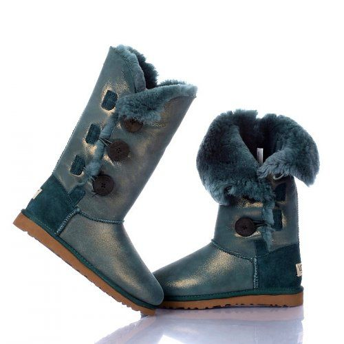 UGG Bottes Bailey Button Triplet Metallic 1873 vert