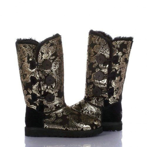 UGG Bottes Bailey Button Triplet Paisley 1873 Or
