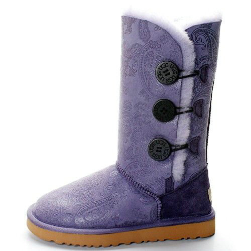 UGG Bottes Bailey Button Triplet Paisley 1873 Violet