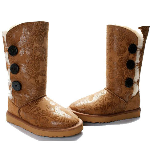 UGG Bottes Bailey Button Triplet Phoenix 1873 Chataigne