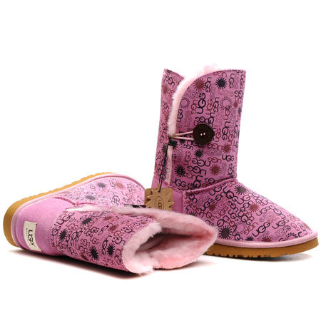 UGG Bottes Bailey Fleurs Buttons pourpres 5803