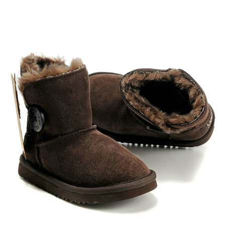 UGG Bottes Enfants Bailey Button 5991 Chocolat