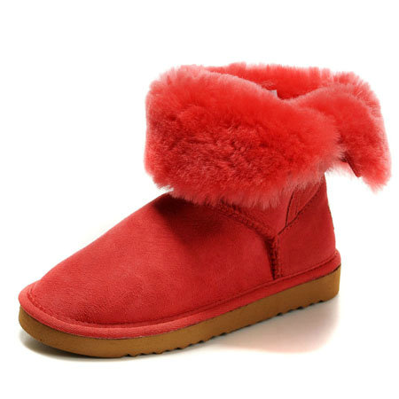 UGG Bottes Enfants Bailey Button 5991 Rouge