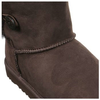 UGG Bottes Enfants Bailey Button Triplet 1962 Chocolat