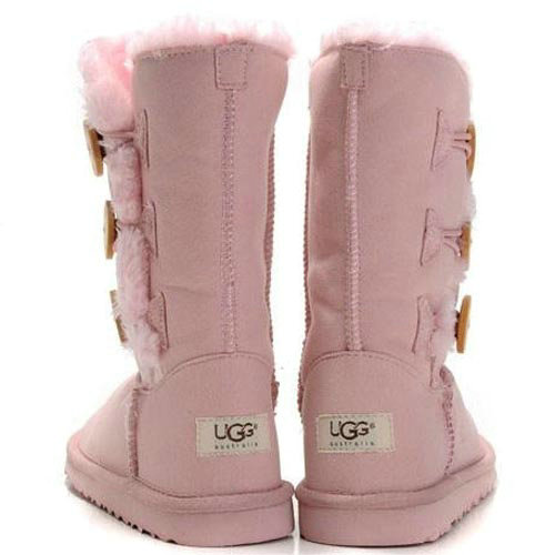Botte UGG Enfants Bailey Button Triplet 1962 Rose